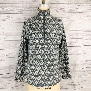 Woolrich diamond print fleece 1/4 zip pullover
